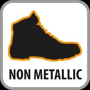 Footwear without metallic parts