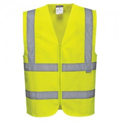 Portwest Vest Hi-Vis Zipped C375