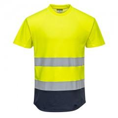 Portwest T-Skjorte C395 Hi-Vis 2-Tone Mesh 55% Cotton,  45% Polyester